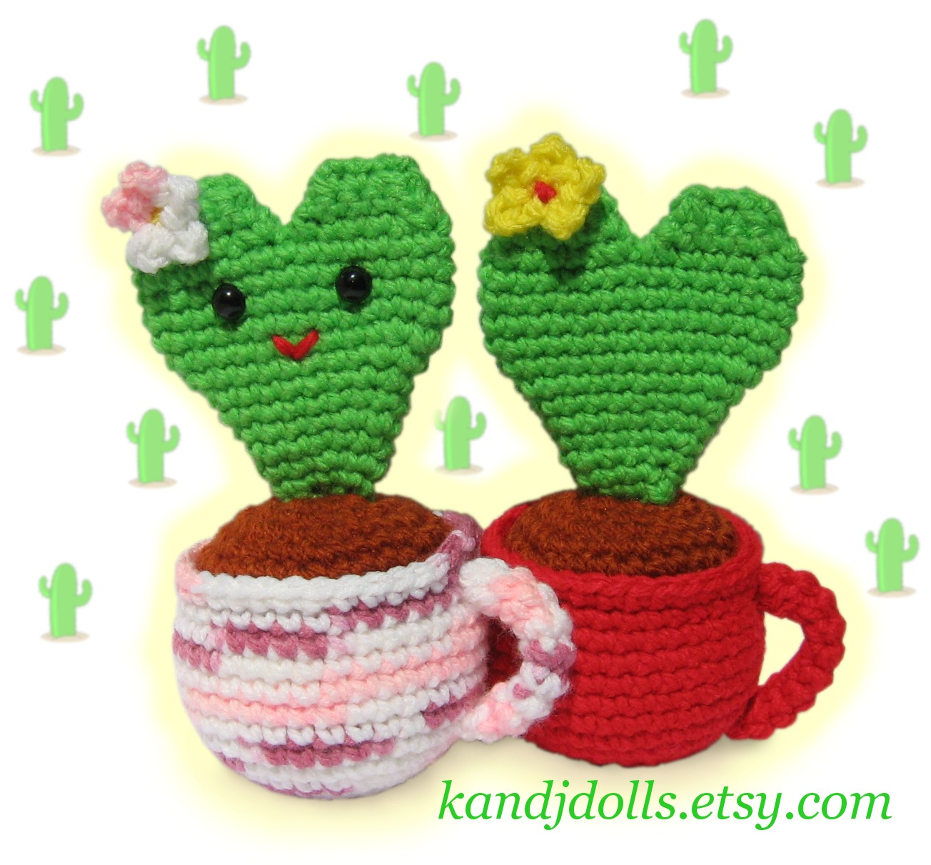 Free Crochet Pattern For Cactus : It s August ? Knit or Crochet a Cactus ? Why Not? free ...