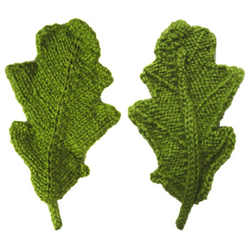 Knit Leaves Pattern : Leaves to Knit for Autumn   16 free patterns   Grandmothers Pattern Book