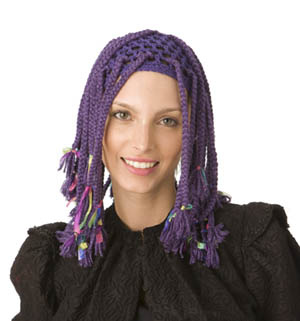 Wonderful Wigs for Halloween – free patterns from Lion Brand Yarn