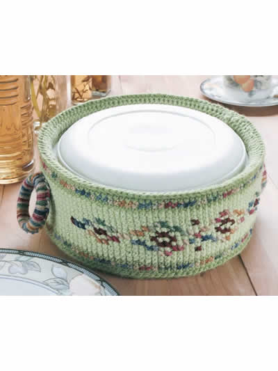 Crochet Autumn Casserole Carriers, Covers and Cozies – free