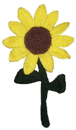 Crochet It: Free Sunflower Motif Crochet Pattern