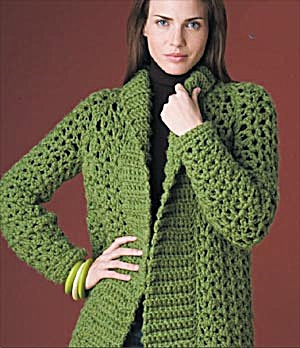 Crochet Jacket Pattern : ... Weather - Crochet Coats, Long Sweaters and Jackets - free patterns