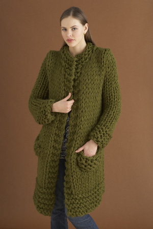 Knitting Patterns For Jackets Chunky : Getting Ready for Cold Weather   Knit Coats, Long Sweaters, Jackets   free pa...