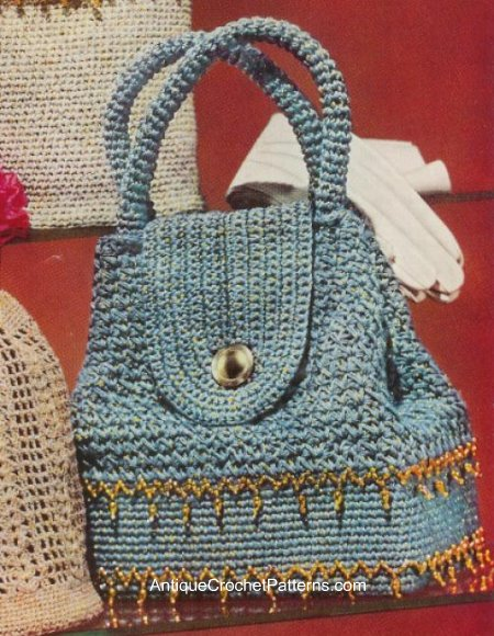 Crochet Book Bag Free Pattern : ... Fall Bags and Purses - free patterns - Grandmothers Pattern Book