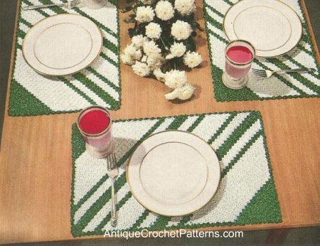For Your Autumn Kitchen ? Place Mats to knit and crochet ...