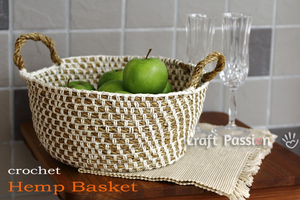 Crochet Rope Basket : Crochet Autumn Baskets - free patterns - Grandmothers Pattern ...