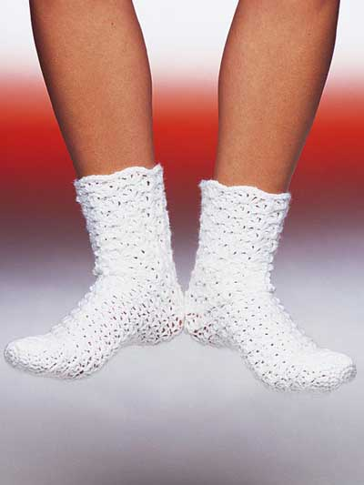 Crocheting Socks : Crochet Socks - free patterns - Grandmothers Pattern Book