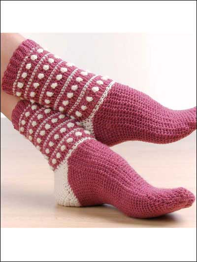 Free Crochet Patterns For Slippers And Socks : Crochet Socks ? free patterns ? Grandmothers Pattern Book