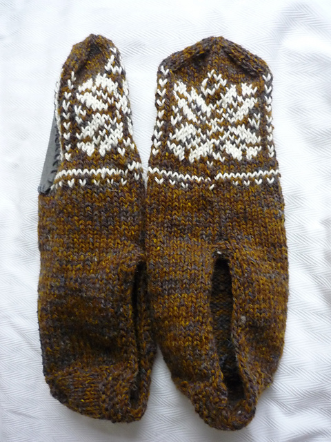 Free Mens Knit Slippers Pattern Grandmothers Pattern Book