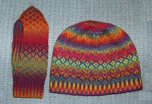 Lovely knit colourwork and fair isle mittens free patterns fair isle hat dt1010fo
