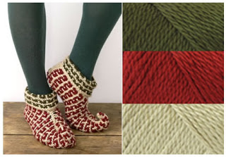 Knitting Pattern For Elf Slippers : Warm Slippers to Knit for Men   10 free patterns ...