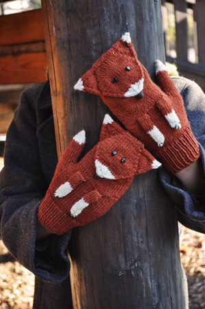 Knitting Pattern For Fox Mittens : Cute Mittens for Kids   free patterns to knit and crochet ...