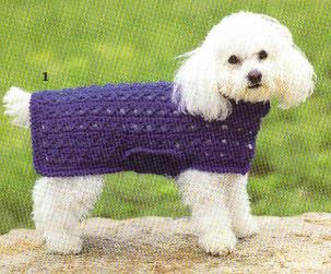 Free Crochet Patterns Dog Sweaters Large Dog : Free Crochet Dog Sweater Pattern