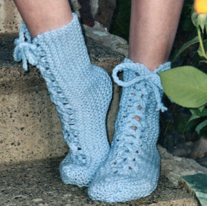 Knit Pattern Baby Booties : Pretty and Warm   Slippers to Knit for Women   18 free patterns   Grandmother...