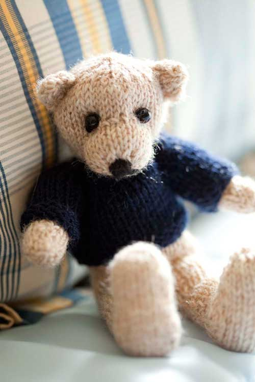 Free Teddy Knitting Pattern : Knit a Bear   11 free patterns Grandmothers Pattern Book