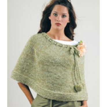Knitting Patterns For Ponchos And Shawls : Lovely Ponchos, Wraps and Shawls to Knit for Spring   free ...