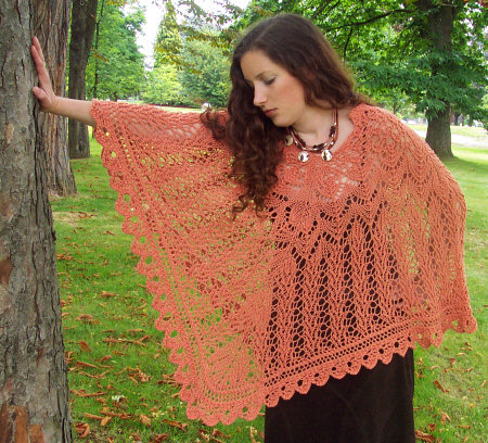 Knitting Pattern For Lace Poncho : KNIT LACE PONCHO PATTERN 1000 Free Patterns