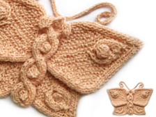 Butterflies to Knit   free patterns   Grandmothers Pattern Book