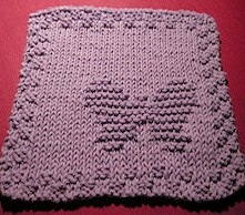 Free Knitting Pattern Butterfly Dishcloth : More Butterflies to Knit   free patterns   Grandmothers Pattern Book