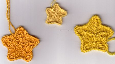 Star Knitting Pattern Free : Knit Appliques   free patterns   Grandmothers Pattern Book