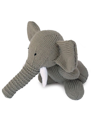Easy Elephant Knitting Pattern : Circus Time! Circus Elephants to Knit and Crochet   free patterns   Grandmoth...