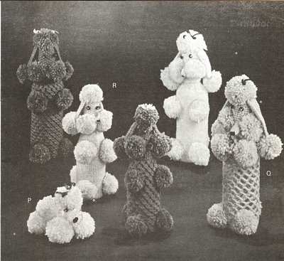 POODLE BOTTLE COVERS Knit Crochet FUN Pattern | eBay