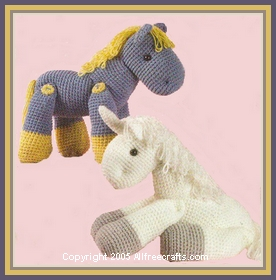 Ponies and Horses for Your Circus   free patterns to knit ...