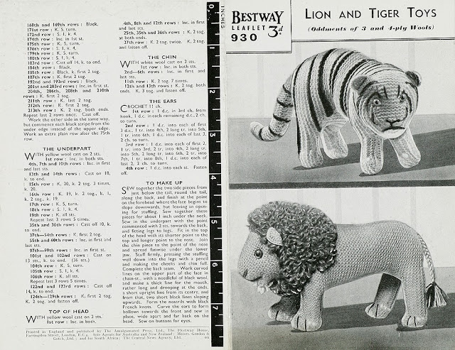 Circus Time Lions and Tigers to knit and crochet -free patterns   Grandmother...