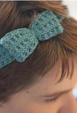 Knit Hair Accessories   free patterns   Grandmothers Pattern Book