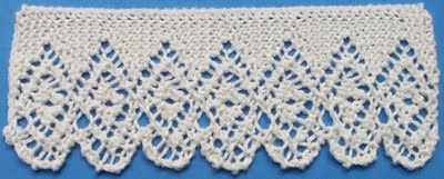 More Lovely Knit Lace Trim and Edging   free patterns   Grandmothers Pat...