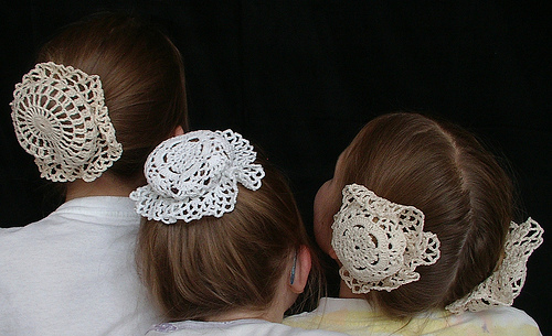Crochet Hair Net Bun Cover Pattern : Crochet Hair Bun Covers and Snoods - 10 free patterns ...