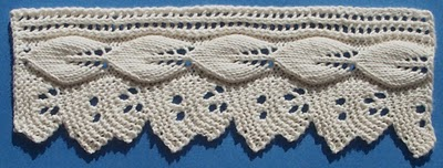 Knit Lace Trims and Edgings for Towels, T shirts, Pillowcases, more – free patterns