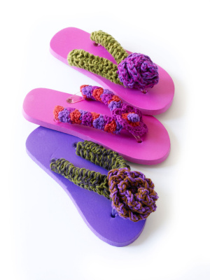 Flip Flops And Sandals To Crochet Free Patterns Grandmothers
