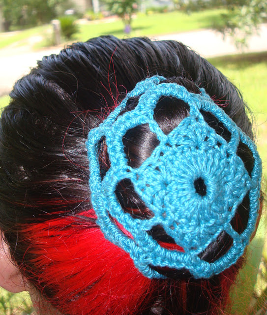 Crochet Hair Bun Covers And Snoods 10 Free Patterns