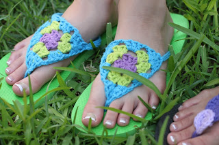 86388a2400b8dd Sandals and Flip Flops to Crochet – free patterns – Grandmother s ...