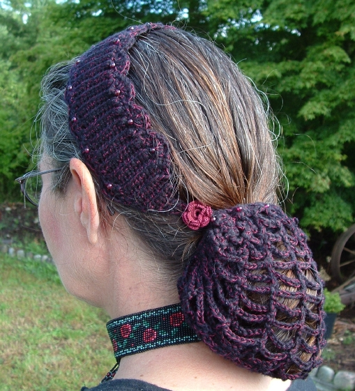 Crochet Hair In A Bun : Crochet Hair Bun Covers and Snoods - 10 free patterns ...