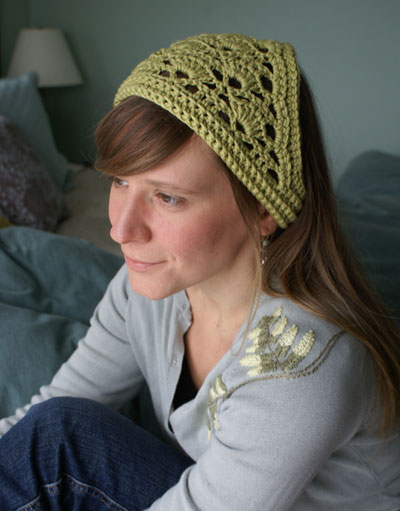 Crochet Hair Kerchief Pattern : ... Crochet Kerchiefs - 11 free patterns - Grandmothers Pattern Book