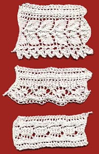 Knitted Edgings Patterns Free : Knit Lacy Trims and Edgings for Towels, T shirts, Pillowcases, more   free pa...