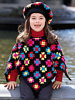 Granny Square Ponchos Free Patterns Grandmothers Pattern Book