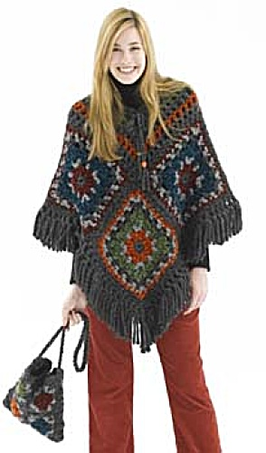 Granny Square Ponchos ? free patterns ? Grandmothers ...