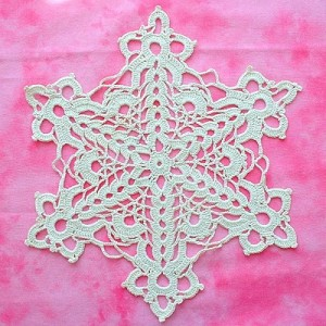 Cut-Glass Snowflake Doily original