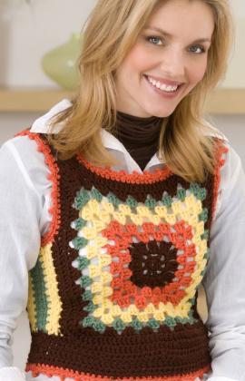 Crochet Granny Square Vest Pattern : Sweaters from Granny Squares ? free patterns ? Grandmother ...