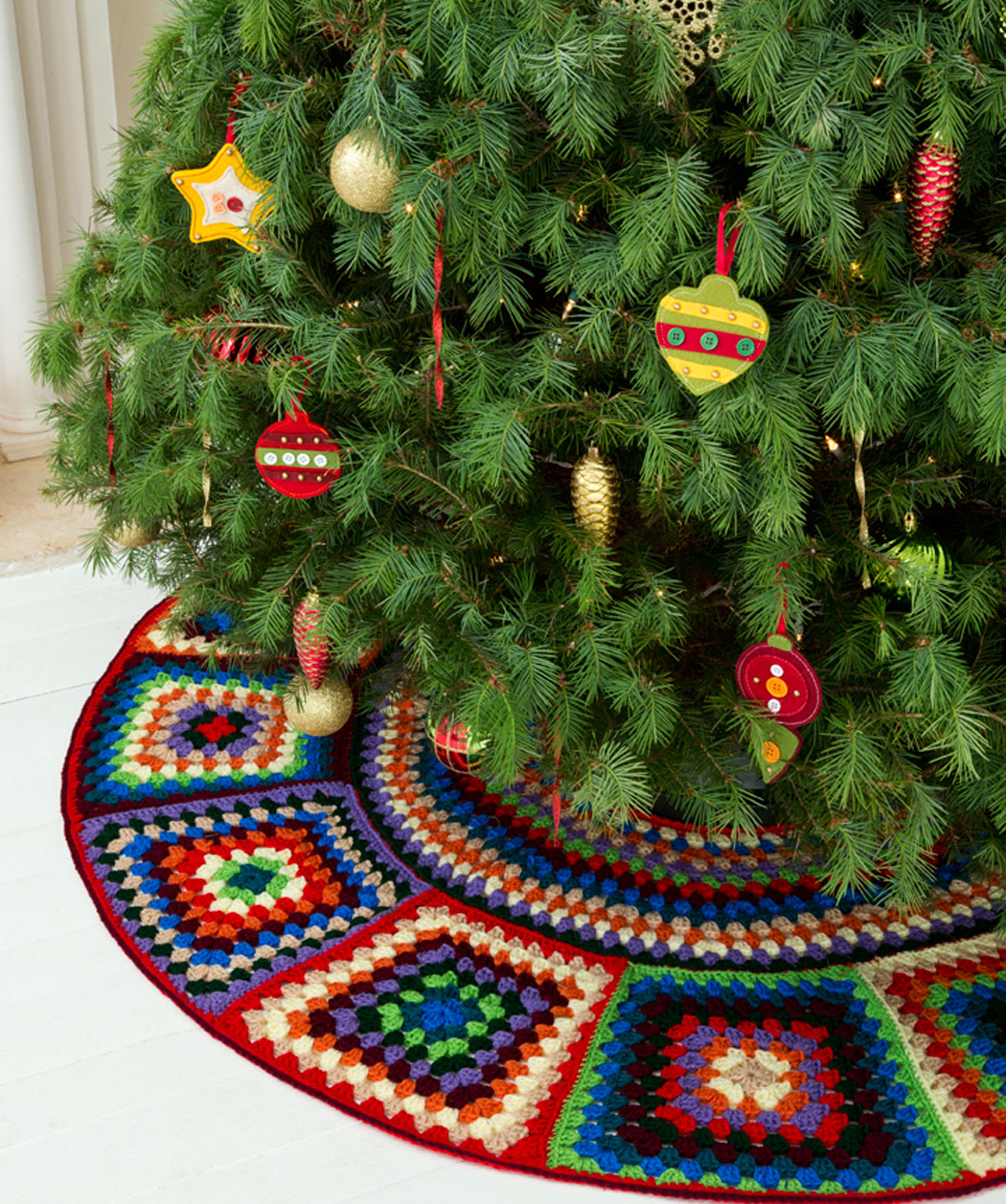 Christmas in july it s a granny square chrismas free