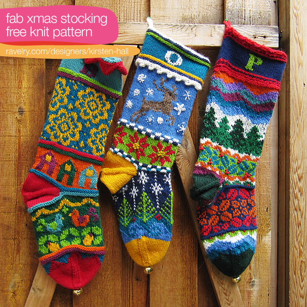 Knit Christmas Stockings Patterns : Christmas in July   Gorgeous Knit Colorwork Christmas Stockings   free patter...