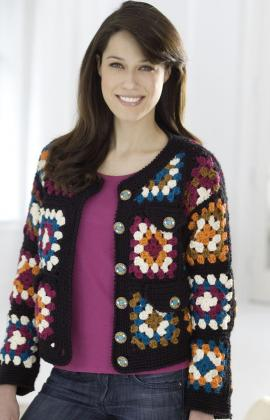 Crochet Granny Square Sweater Pattern : Sweaters from Granny Squares ? free patterns ? Grandmother ...