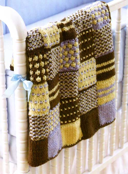 Knit a Square, Make an Afghan   free patterns   Grandmothers Pattern Book