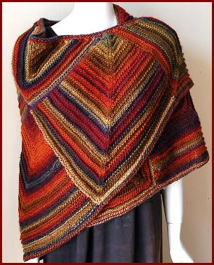 Knit a Square, Make a Wrap   free patterns   Grandmothers Pattern Book