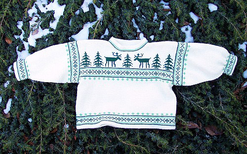 More Christmas Sweaters For Babies And Kids Free Patterns To Knit