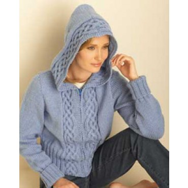 Knitting Pattern Womens Hoodie : Hoodies to Knit   free patterns   Grandmothers Pattern Book