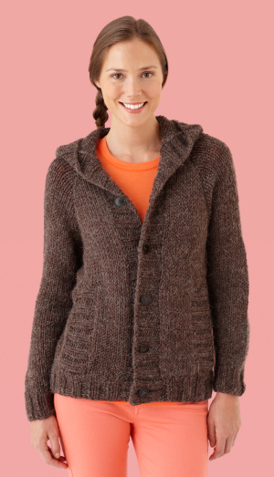 Knitting Pattern Hooded Cardigan : Hoodies to Knit   free patterns   Grandmothers Pattern Book